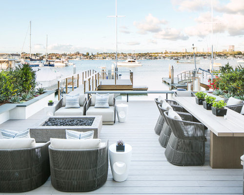 inspiration for a beach style backyard dock remodel in orange county - Dock Design Ideas