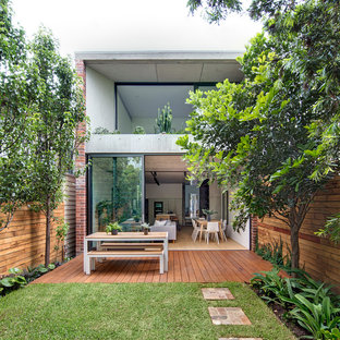Photo of a contemporary deck in Sydney with no cover.