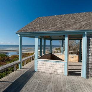 Idee per una terrazza vittoriana con un tetto a sbalzo