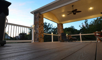 BC&L Custom Deck with Roof and Beautiful Lighting