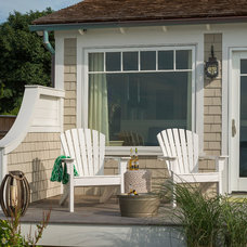 Beach Style Deck by Ronald F. DiMauro Architects, Inc.