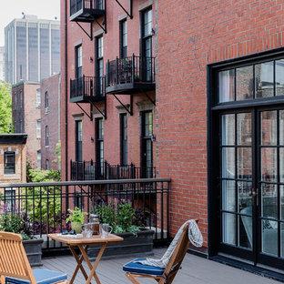 Immagine di terrazze e balconi chic con nessuna copertura