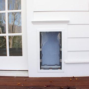 Bear Hills Exterior Remodel - Doggy Door