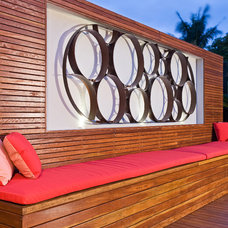 Contemporary Deck by Apex landscapes
