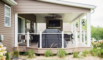 Beautiful #ExteriorMakeOver with large covered deck & fireplace