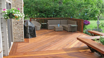 Beautiful Ipe Deck with attached Bench
