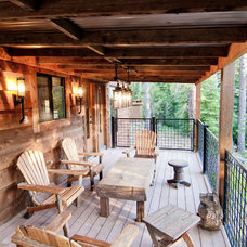 Rustic Deck by High Camp Home