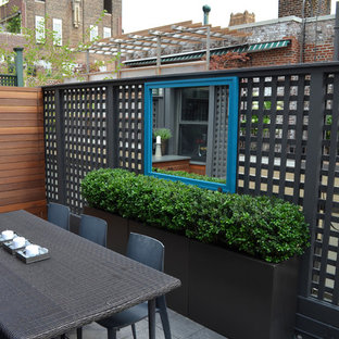Photo of a contemporary roof terrace and balcony in New York with no cover.