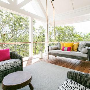 Idées déco pour un toit terrasse sur le toit bord de mer avec une extension de toiture.