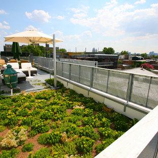 Immagine di una terrazza industriale di medie dimensioni e sul tetto con nessuna copertura