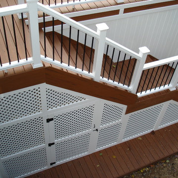 Bernardsville, NJ TimberTech Deck with Fiberon Railings