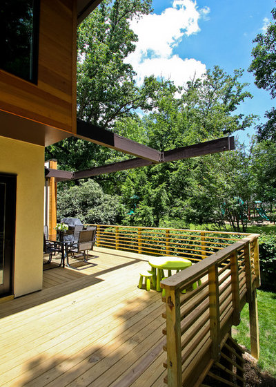 Contemporary Deck by Superior Home Services Inc