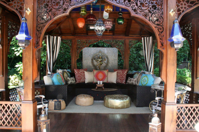 Asian Patio by Woodson & Rummerfield's House of Design