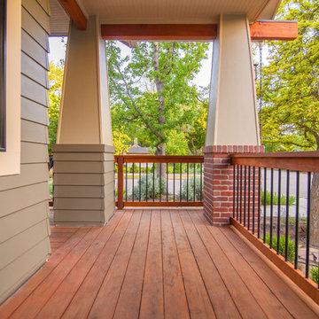 Bohn Front Porch Redwood Deck