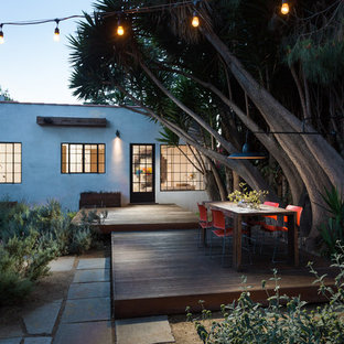 Deck - mid-sized contemporary backyard deck idea in Los Angeles with no cover