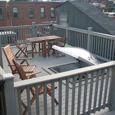 Contemporary Deck by New England Design & Construction