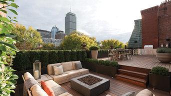 Boston rooftop garden