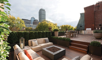 Boston rooftop garden