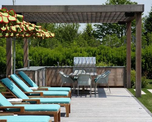 landhausstil terrasse mit pergola ideen design bilder houzz. Black Bedroom Furniture Sets. Home Design Ideas
