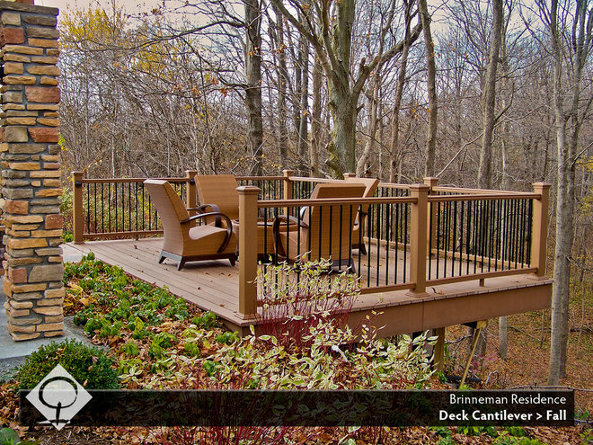 Traditional Deck by The Cornerstone Landscape Group