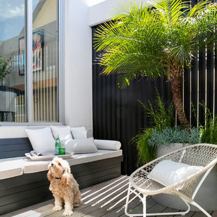 This is an example of a contemporary deck in Sydney with no cover.