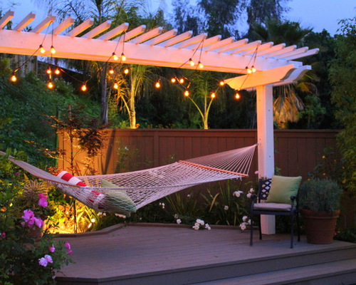 Backyard Hammock Ideas for backyards without a perfect spot to hang a traditional hammock metal supported ones can Saveemail