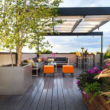 Bucktown Contemporary Rooftop Deck