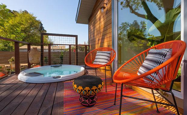 Contemporáneo Terraza y balcón by Visual Jill Interior Decorating