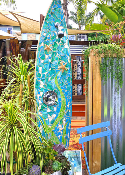 Beach Style Deck by Sustainable+Functional+Art