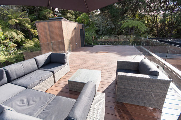 Contemporary Deck by Haven Renovations