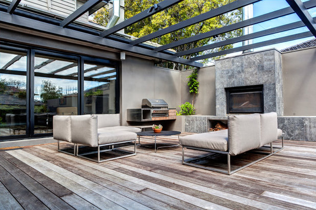 Contemporary Deck by White Chalk Interiors