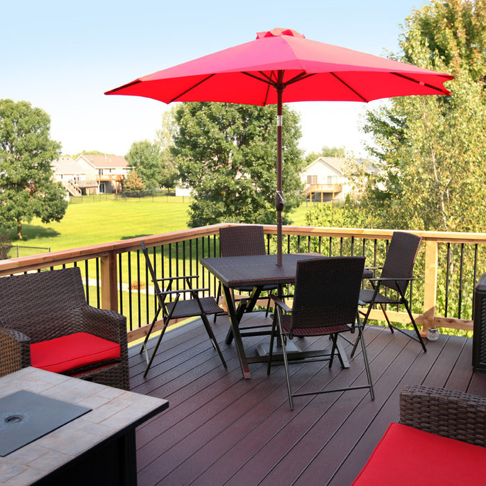 Cedar Deck with Trex Composite Decking