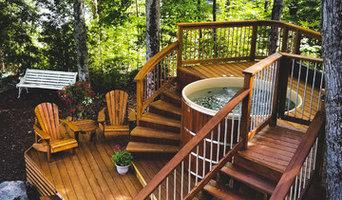Cedar Hot Tubs in Decks
