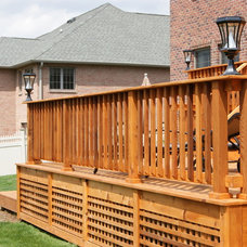 Traditional Porch by Deck Remodelers.com
