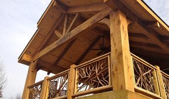 Cedar Timber Covered Deck