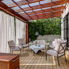 contemporary deck by Cat Hackman