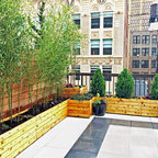 Ues Rooftop Terrace Roof Garden Deck Container Plants