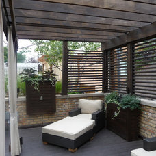 Transitional Deck by Chicago Roof Deck & Garden