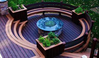Circular Fire-Pit Deck