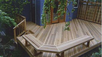 Clear vertical grain cedar deck, custom