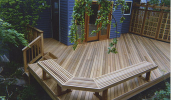 Clear vertical grain cedar deck, custom