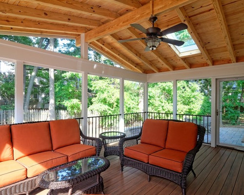Pine tongue and groove houzz - Tongue and groove exterior decking ...
