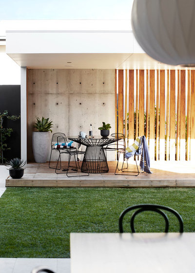 Contemporary Deck by Harrison's Landscaping
