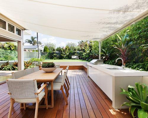 Transitional deck design ideas renovations photos for Sunroom extensions sydney