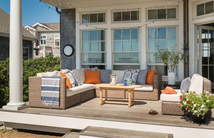 Beach Style Deck by Kate Jackson Design