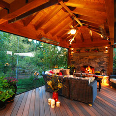 Rustic Deck by Mosaic Outdoor Living & Landscapes