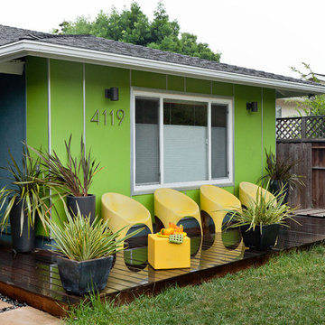 Colorful Mid Century Modern Residence
