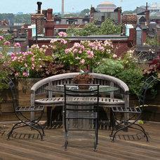 Eclectic Deck by Matthew Cunningham Landscape Design LLC