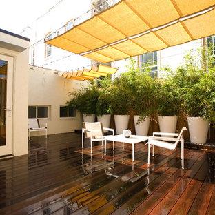 Diseño de terraza contemporánea en azotea