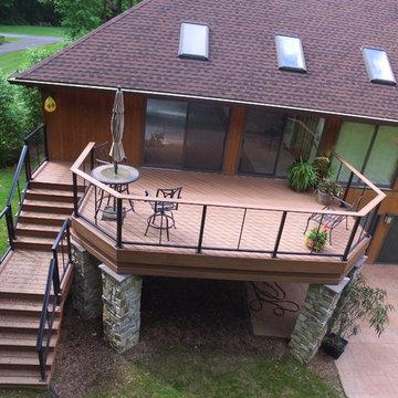 Composite Deck/Cable Rail/Stonework
